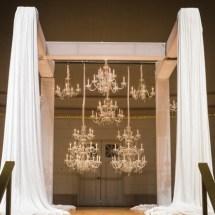 chandelier wall, nashville weddings , ceremony at war memorial