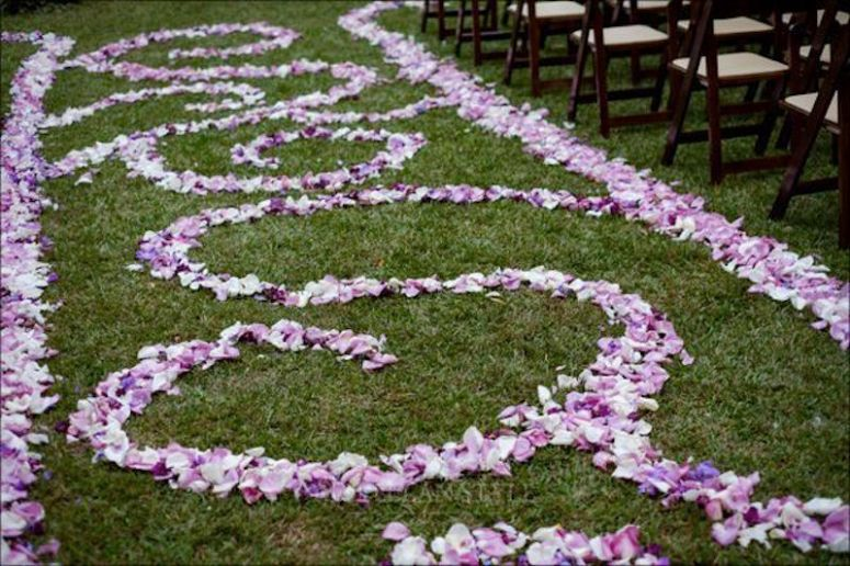 rose petal aisle runner, ceremony, nashville wedding planner