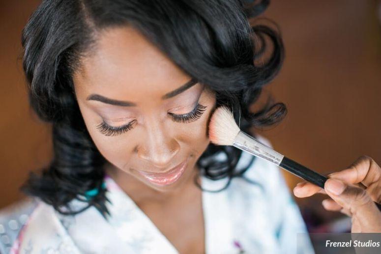 hair, makeup, bride