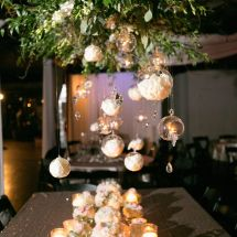 large centerpiece, floating decor
