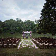memphis wedding, purple, chuppah