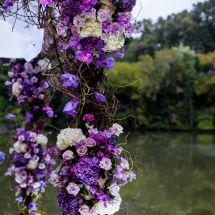 purple flowers, detail, decor
