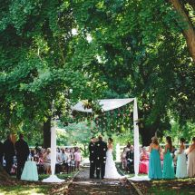 ceremony, flower draping