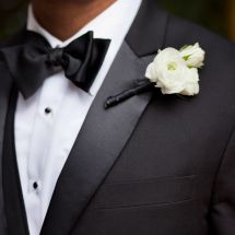 boutonnière, white, nfl groom
