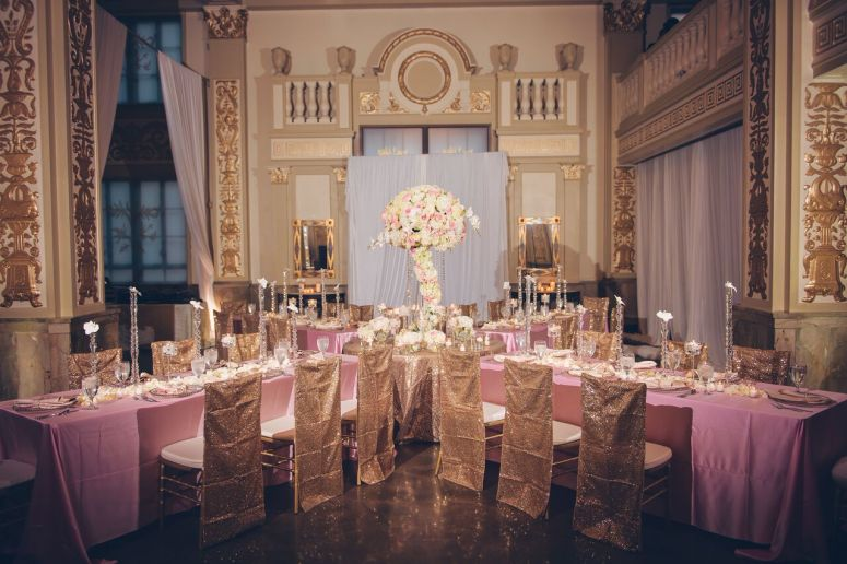 reception, large centerpiece, memphis reception