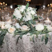 sweetheart table, nashville wedding planner, floral design