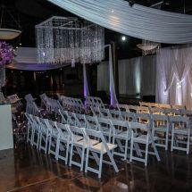 ceremony, purple decor