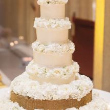 wedding cake, floral design, white