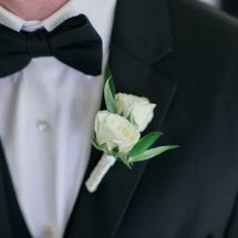 boutonniere, rose, white