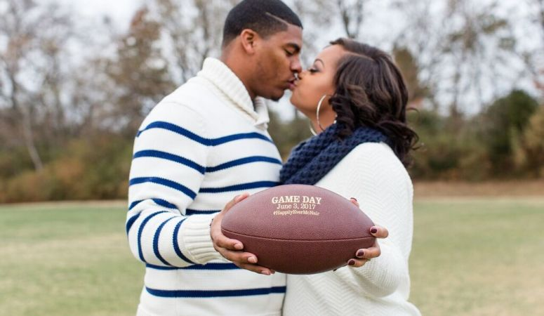 football, nashville couple, engagements