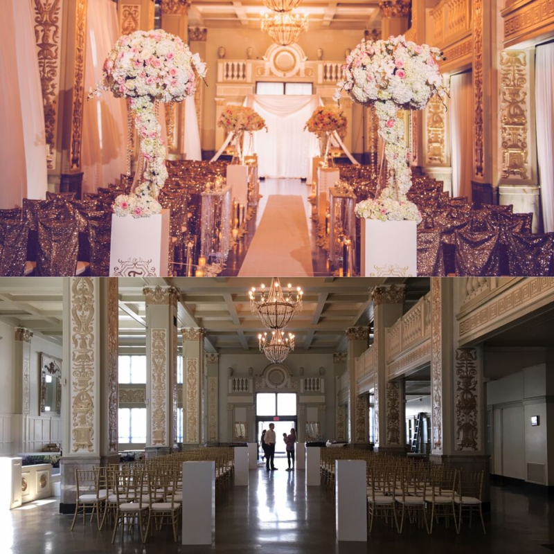 before and after, memphis wedding, memphis wedding planner