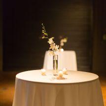 cocktail table, orchid, nashville venue