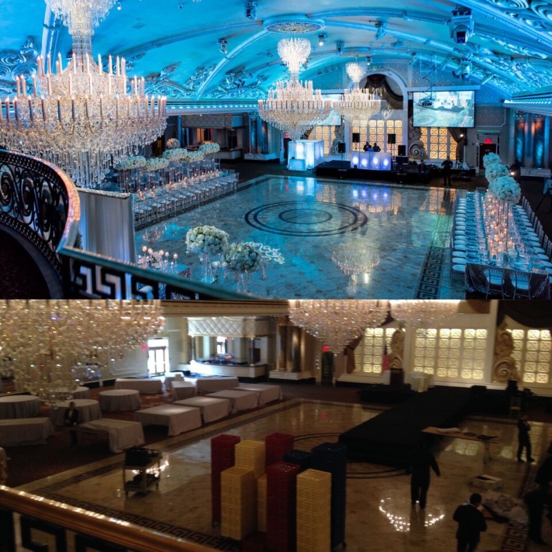 new jersey wedding, reception, before and after