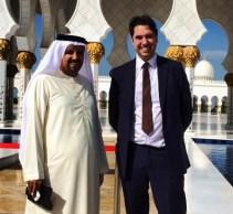 Elliott King and Mr Jamal, Abu Dhabi, 2013