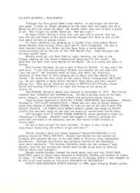 Elliott Murphy - Milwaukee Bio