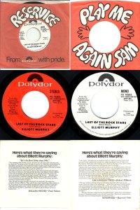 Elliott Murphy - Last Of The Rock Stars Promo 45