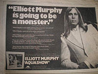 Elliott Murphy Is Going To Be A Monster Ad