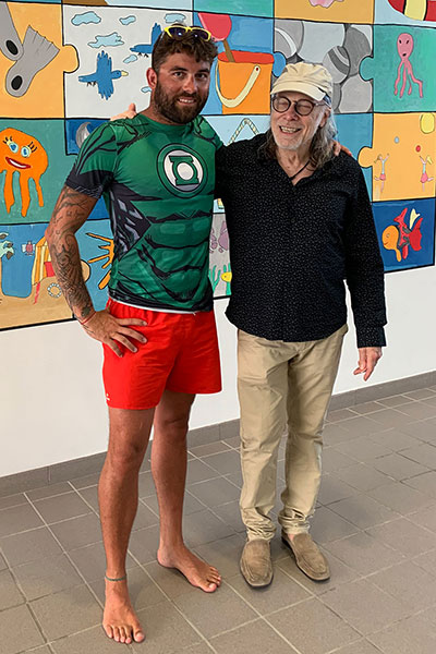 Elliott Murphy and Aqua Gym Instructor Johnny