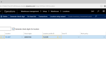 Site and Warehouse Defaults for Order Lines in Microsoft Dynamics AX