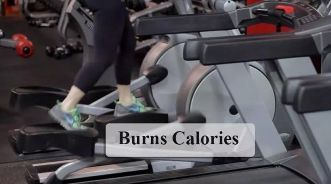 Burns calories