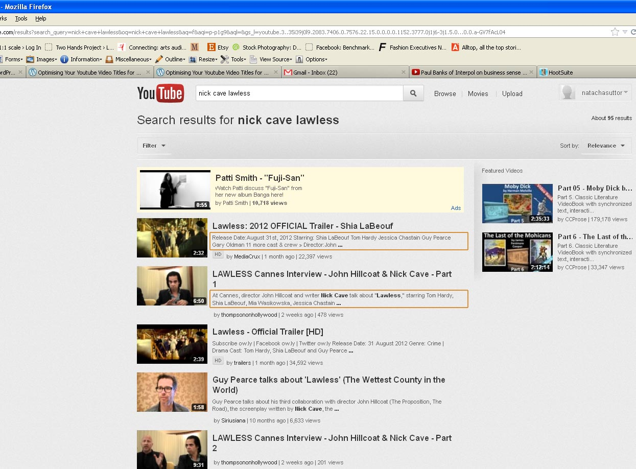 Optimising Your Youtube Video Descriptions: Everything