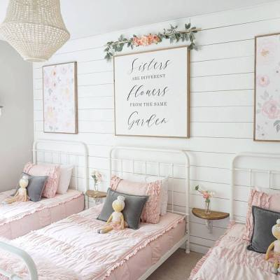 Shared Floral Bedroom for Girls