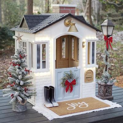 DIY Holiday Playhouse Makeover with Interactive Features