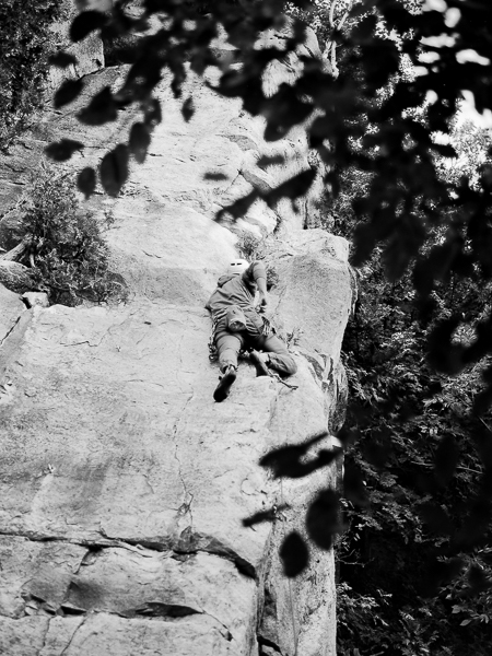 picture of people rock climbing
