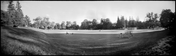 panoramic pinhole landscape of waterloo park