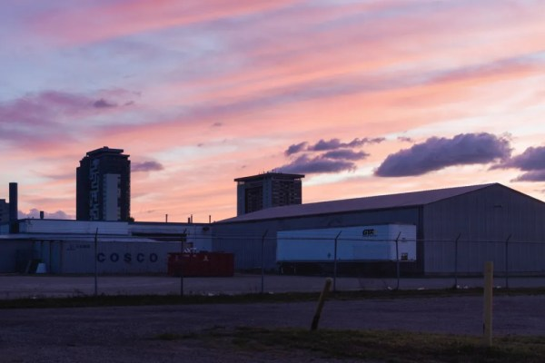 An image of a sunset in subruban Waterloo Ontario.