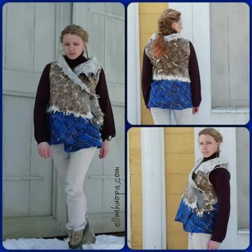 huopaliivi, viking clothes, viikinki, liivi huovasta, huopavaatteet, eco style,