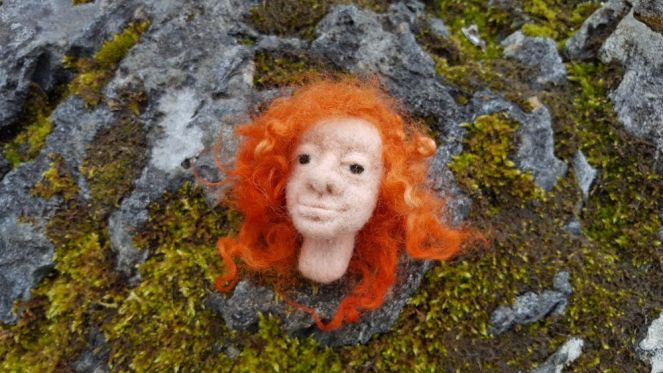 huovutus, felting, needle felting