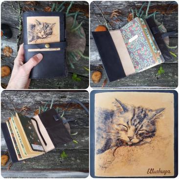 päiväkirjä, kissa, käsityö tahja