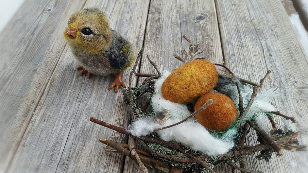 Pääsiäisaskartelu, koti- ja sisustusideat pääsiäinen, huovutettu, huovuta pääsiäsmuna