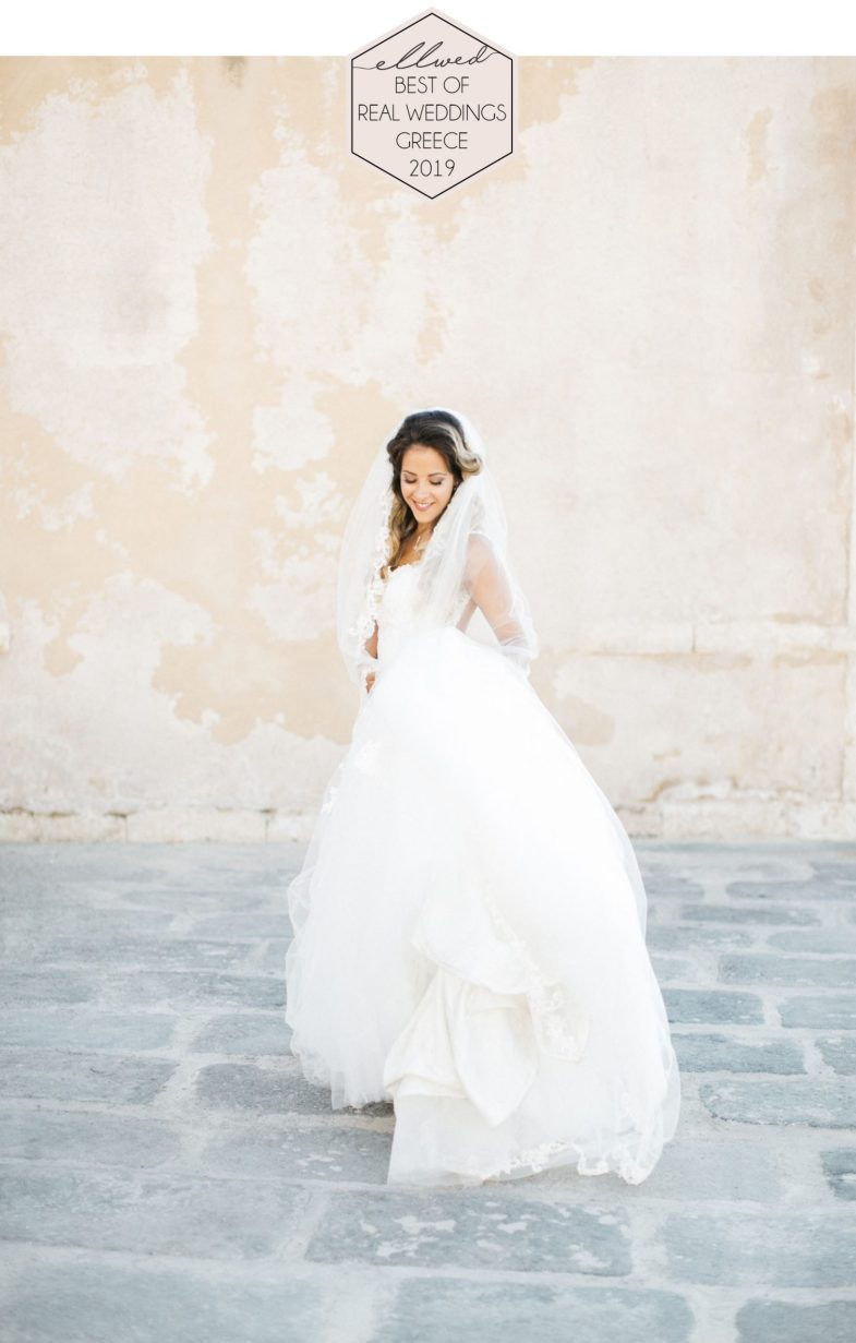 Ellwed Award fro best real wedding happy bride in her bridal dress