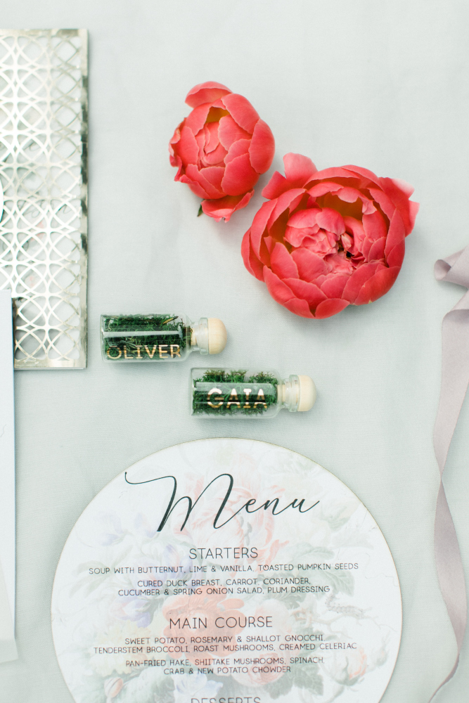 SUMMER CORAL LAKESIDE WEDDING stationery party and co