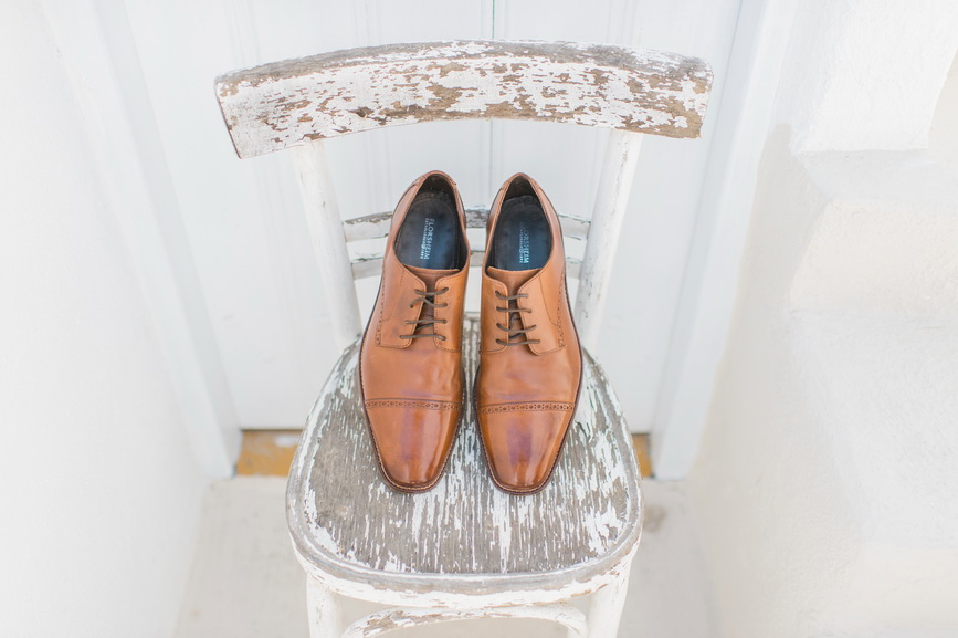 Hellenic Chic Elopement Grooms shoes