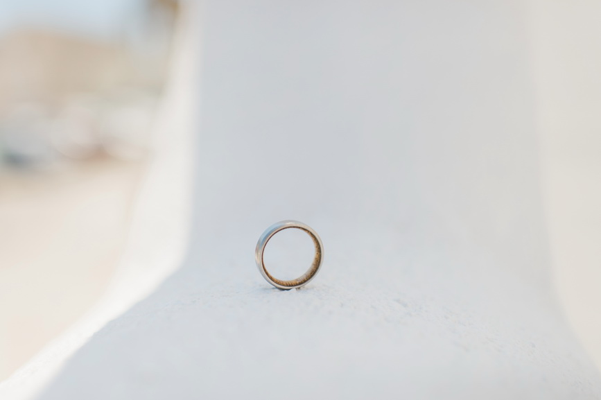 Hellenic Chic Elopement wedding ring