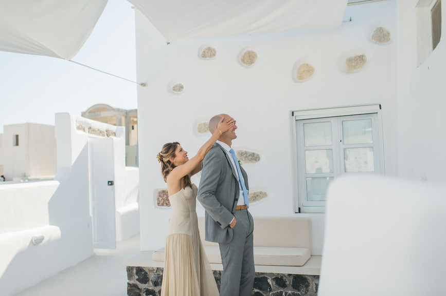 Hellenic Chic Elopement first look