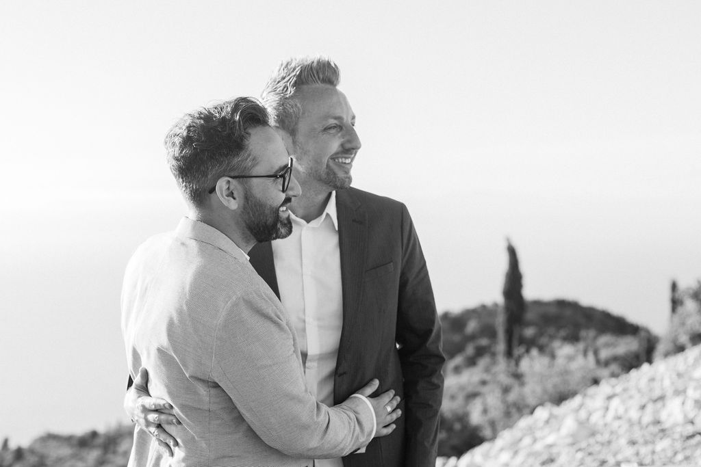 Same-sex vow renewal in Lefkada