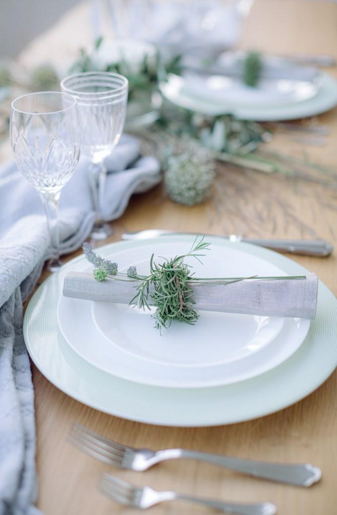 Rustic and Graceful Bridal Inspiration table setup