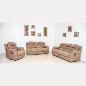 Jedi Recliner Sofa - Beige 6 seater