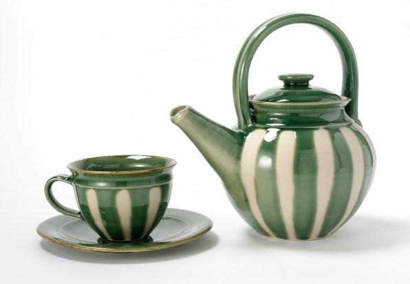 Grønt kaffestel - Elly Pedersen Keramik
