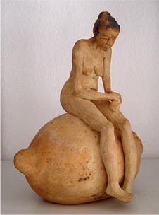 Citronkvinde - Elly Pedersen Keramik