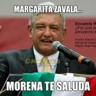 Margarita Zavala, morena te saluda