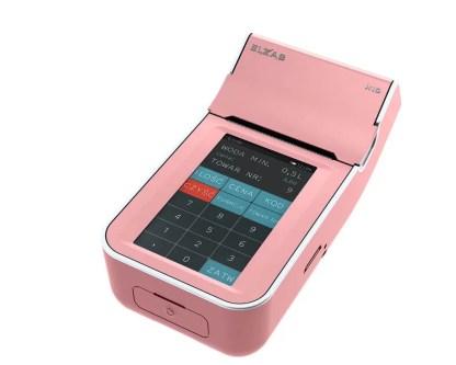 Kasa fiskalna ELZAB K10 Online - różowo-biała