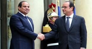الرئيس المصري عبد الفتاح السيسي والرئيس الفرنسي فرانسوا هولاند