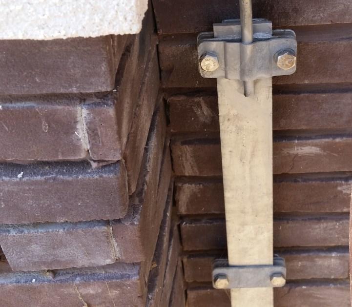 Крепление вывода заземляющего проводника из полосы 40х4 мм