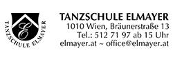 Logo der Tanzschule Elmayer mit Schritzug