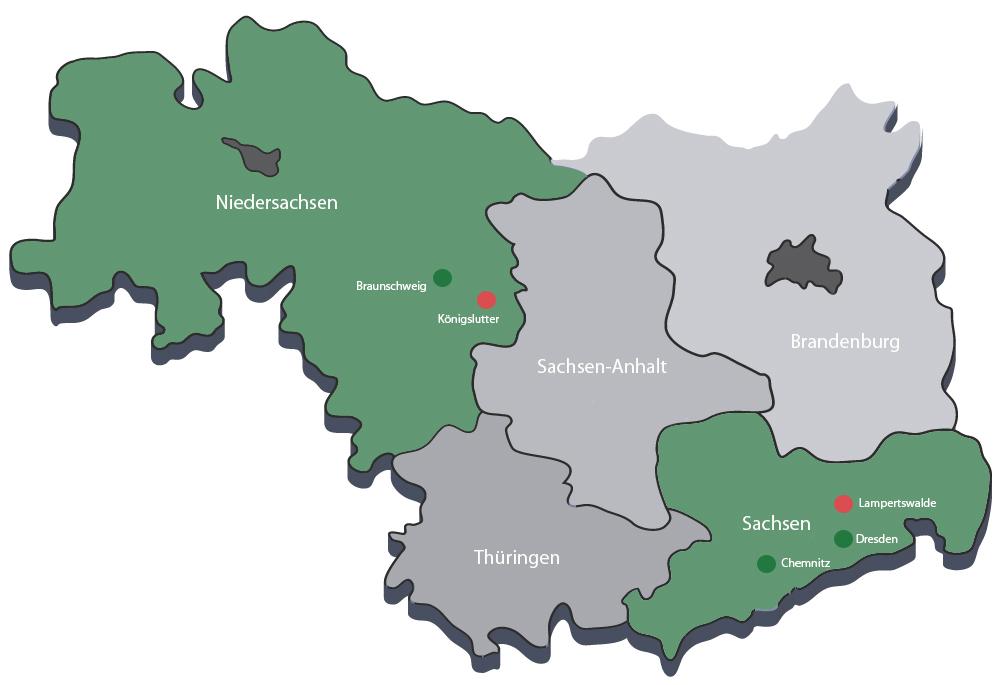 Standorte der Elm Bau